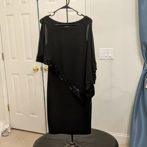 Black cocktail dress - very flattering!